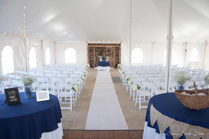 Indoor Ceremony And Reception Setup